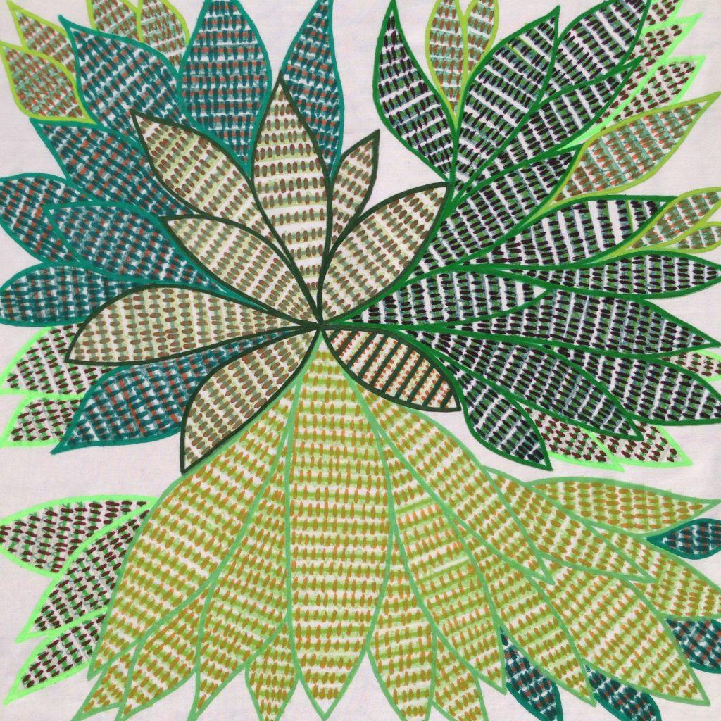 Motif fleur de lotus sur tissu
