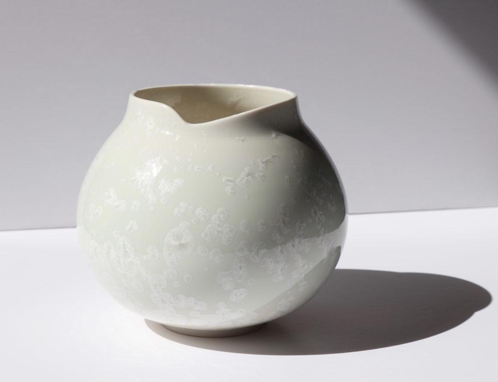 Vase boule en porcelaine